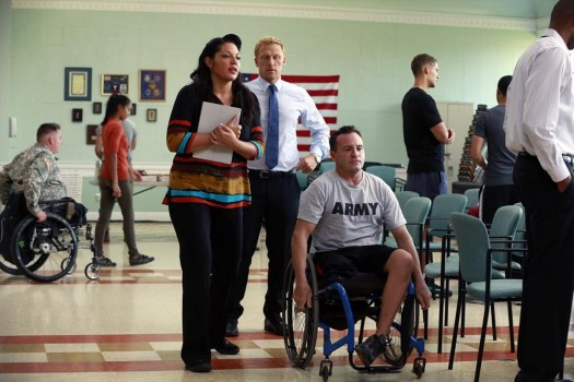 Grey's Anatomy: Sara Ramirez e Kevin McKidd interpretano una scena dell'episodio Got to Be Real