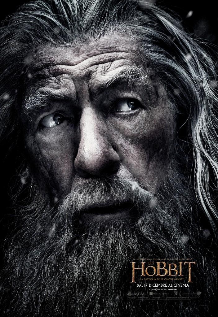 Lo Hobbit: la Battaglia delle Cinque Armate, il character poster italiano di Ian McKellen (Gandalf)