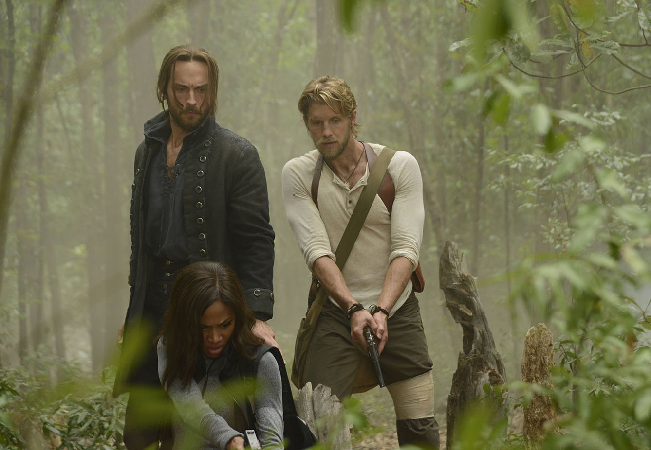 Sleepy Hollow: Tom Mison, Nicole Beharie e Matt Barr in Go Where I Send Thee...