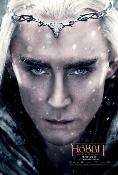 Lo Hobbit: La Battaglia delle Cinque Armate - Thranduil/Lee Pace in un character poster