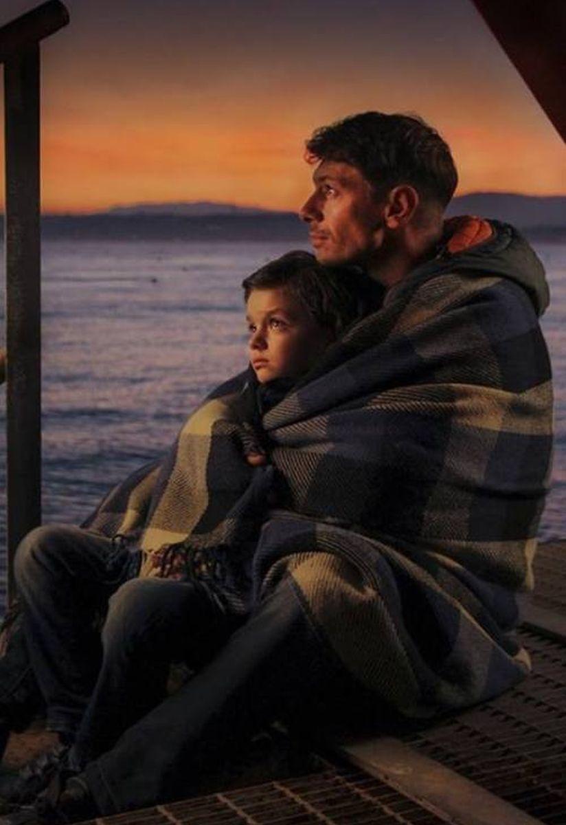 Mio papà: Giorgio Pasotti con Niccolò Calvagna in una scena del film