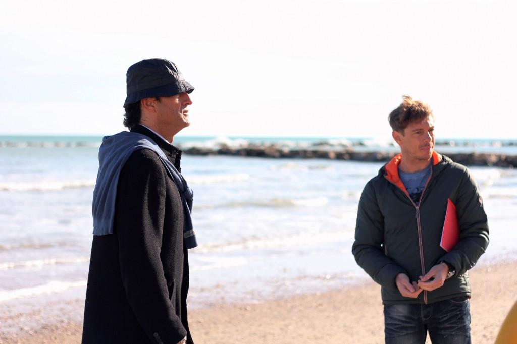 Mio papà: Giorgio Pasotti insieme al regista Giulio Base sul set del film