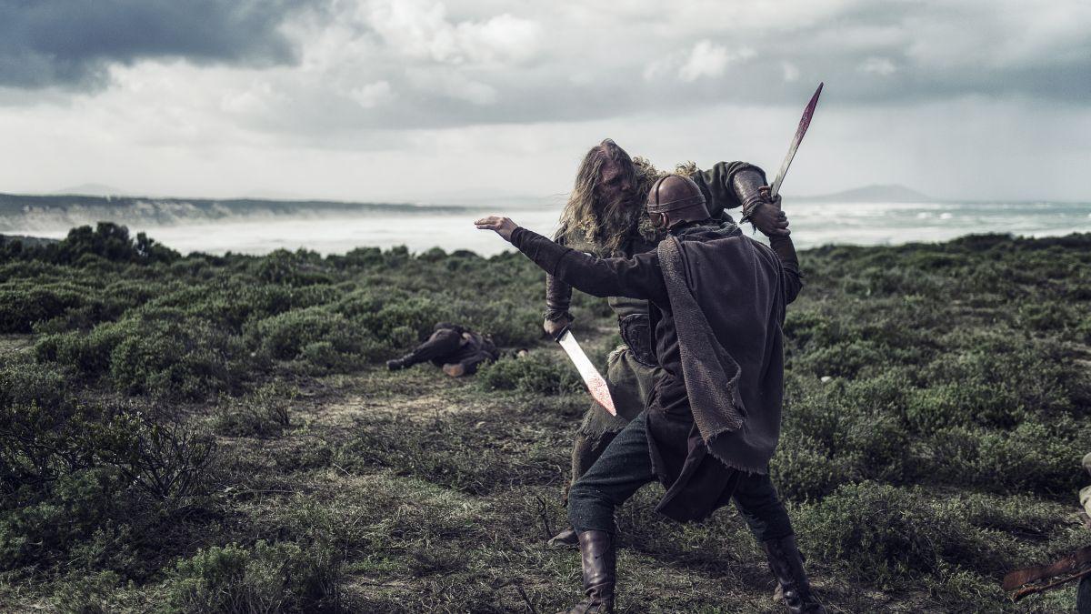 I vichinghi: una scena di combattimento tratta dal film