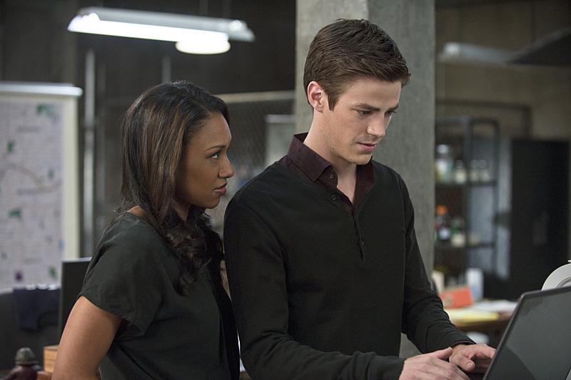 The Flash: Grant Gustin e Candice Patton in una scena di Fastest Man Alive