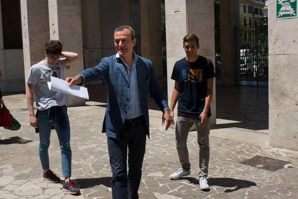 Giulio Cesare - Compagni di scuola: il regista Antonello Sarno sul set