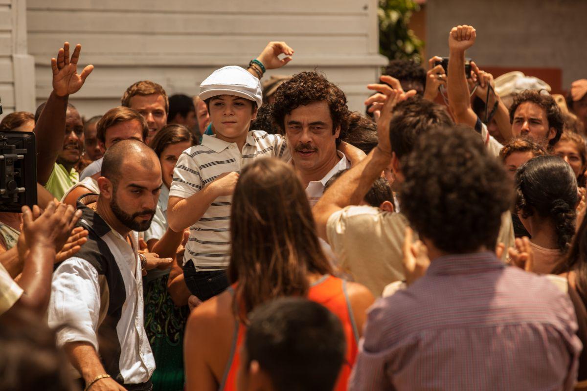 Escobar: Paradise Lost, Benicio Del Toro in un'immagine del film diretto da Andrea Di Stefano