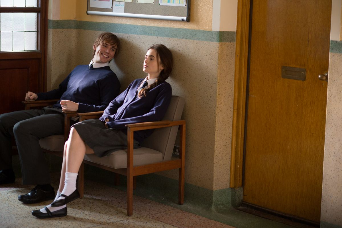 Lily Collins insieme a Sam Claflin in #ScrivimiAncora