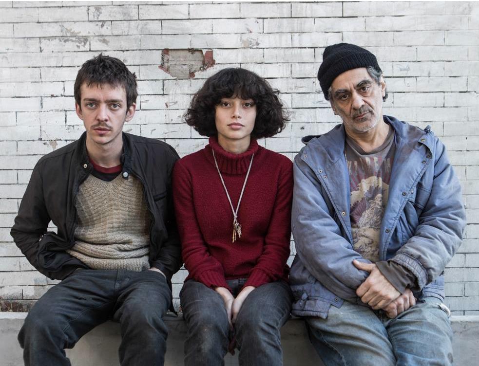 Ailín Salas con Nahuel Perez Biscayart e Daniel Melingo in una foto promozionale di Lulu