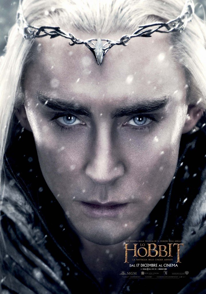 Lo Hobbit: La Battaglia delle Cinque Armate - Thranduil/Lee Pace in un character poster italiano del film