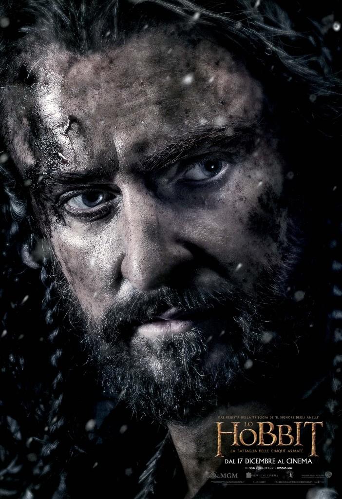 Lo Hobbit: La Battaglia delle Cinque Armate - Thorin/Richard Armitage in uno dei character poster italiani