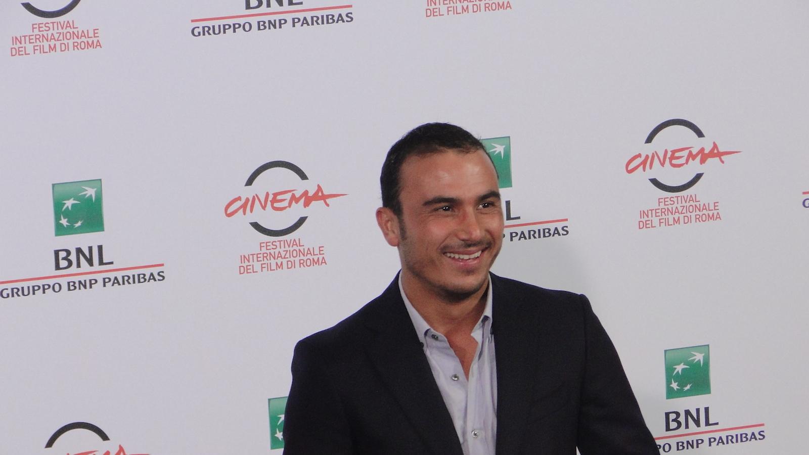 I milionari: Francesco Di Leva posa al photocall di Roma 2014