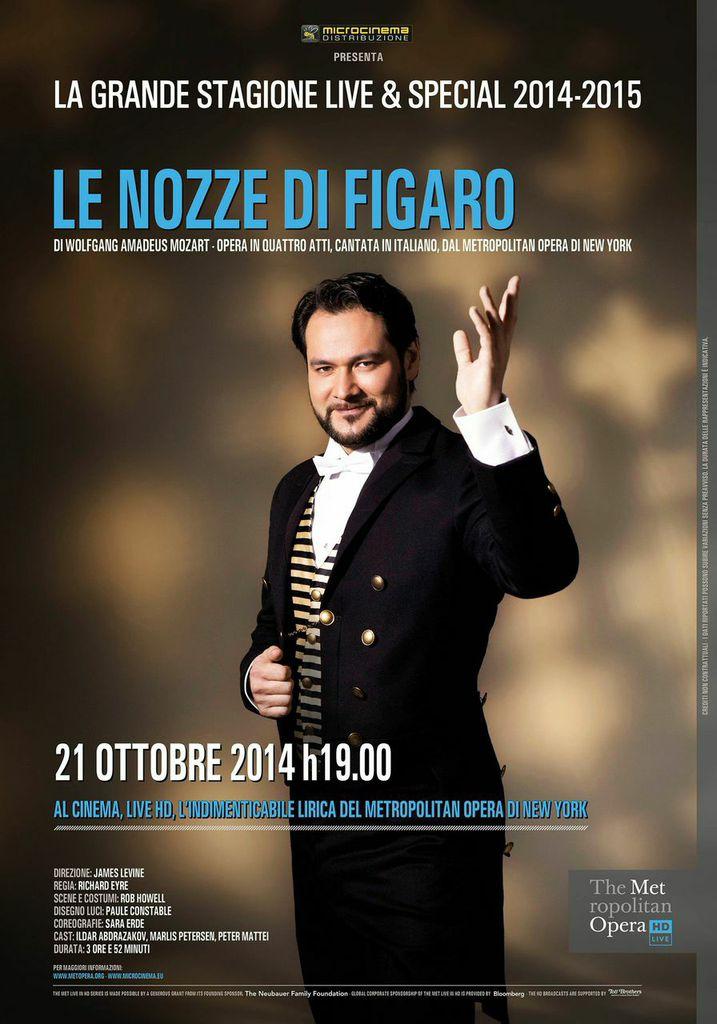 Locandina di Le nozze di Figaro