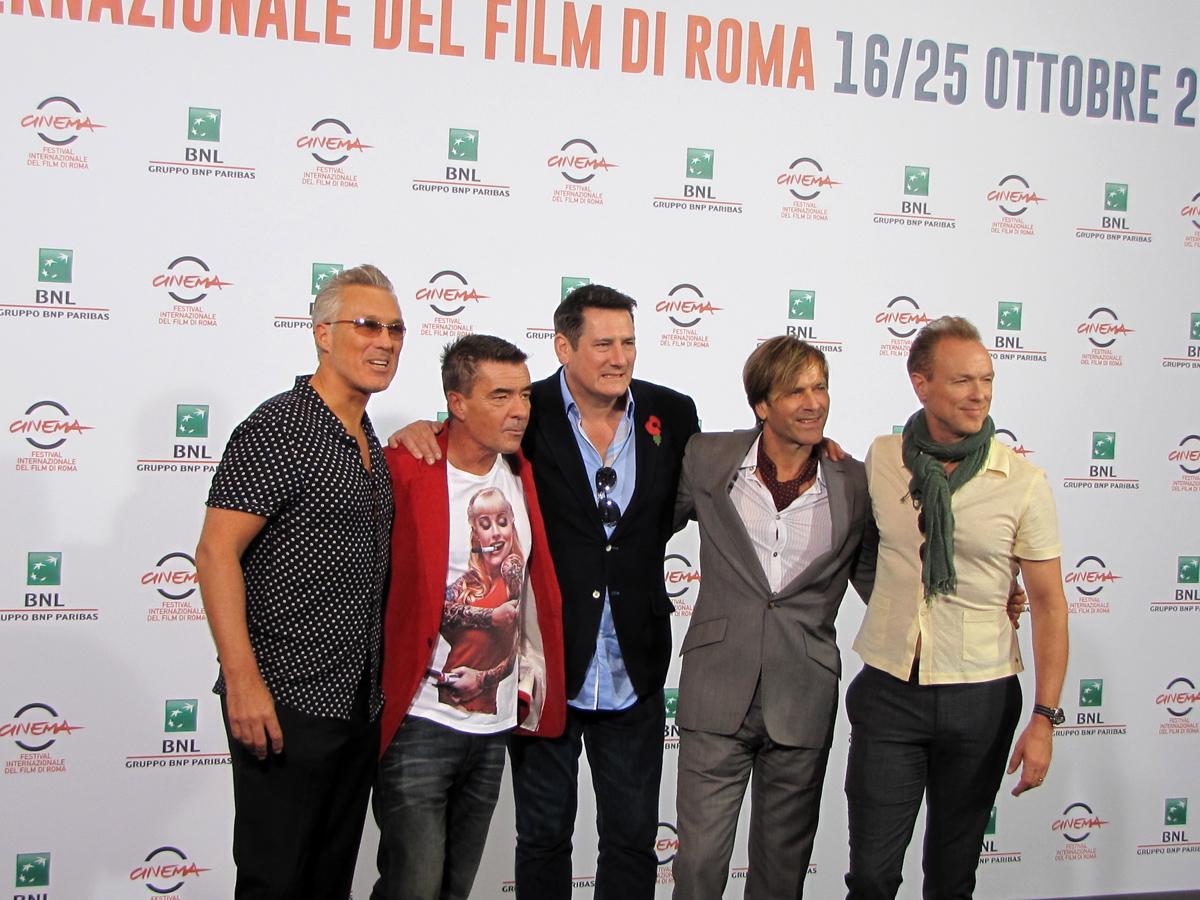 Roma 2014 - gli Spandau Ballet con la regista George Hencken per presentare il loro film