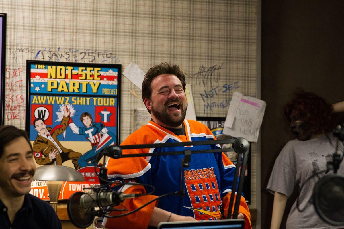Tusk: Justin Long con Kevin Smith sul set