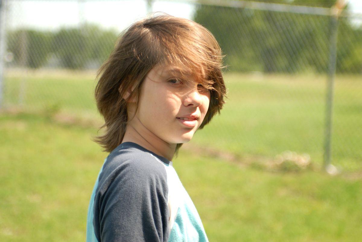 Boyhood: Ellar Coltrane in una scena del film di Richard Linklater
