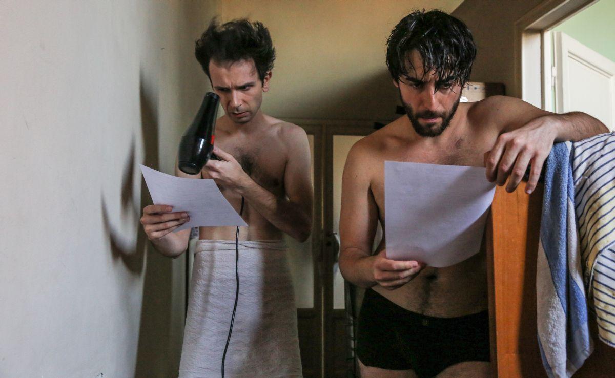 Fino a qui tutto bene: Paolo Cioni con Guglielmo Favilla sul set del film
