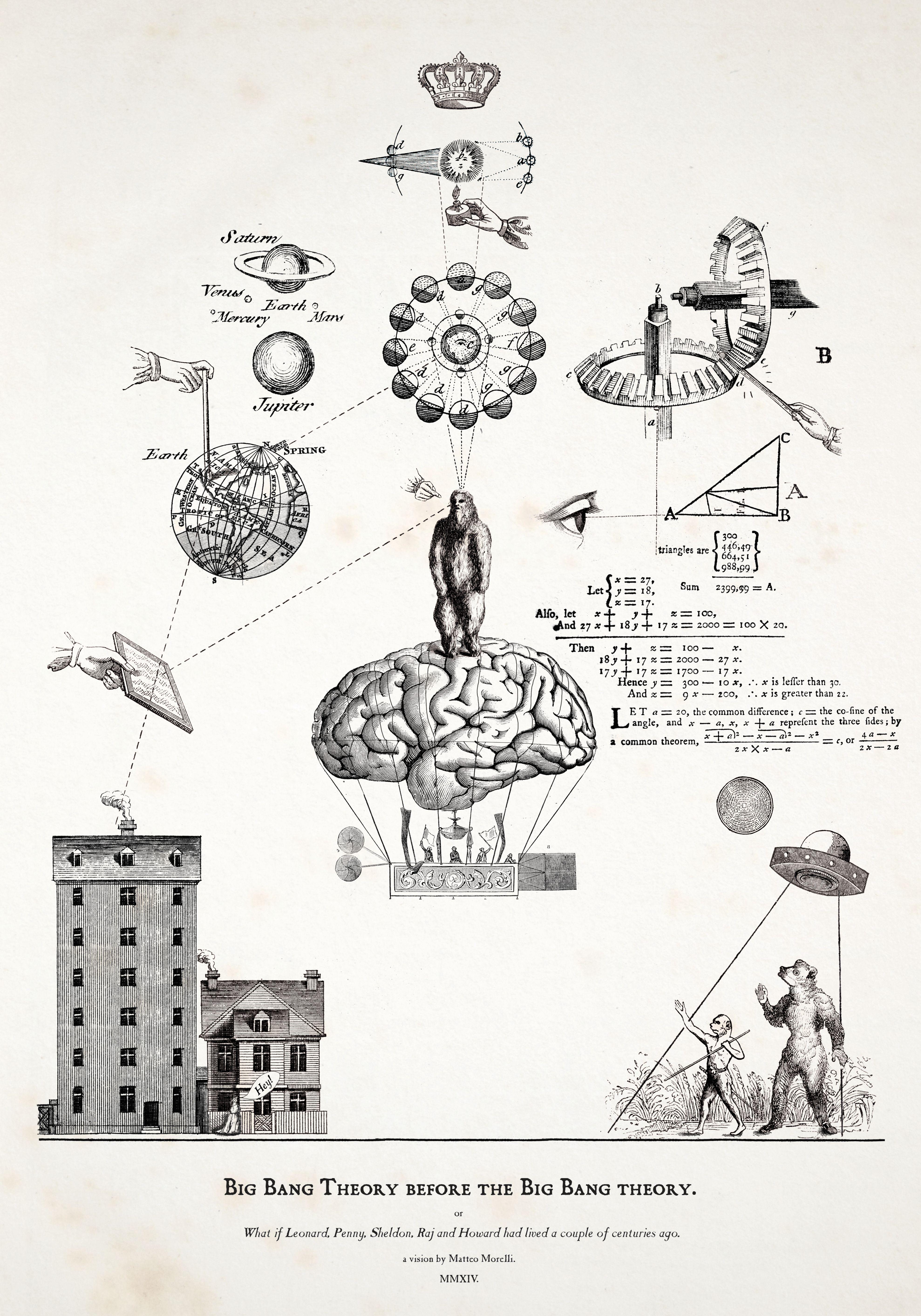 La mostra di The Big Bang Theory: l'opera di Alessandro Morelli