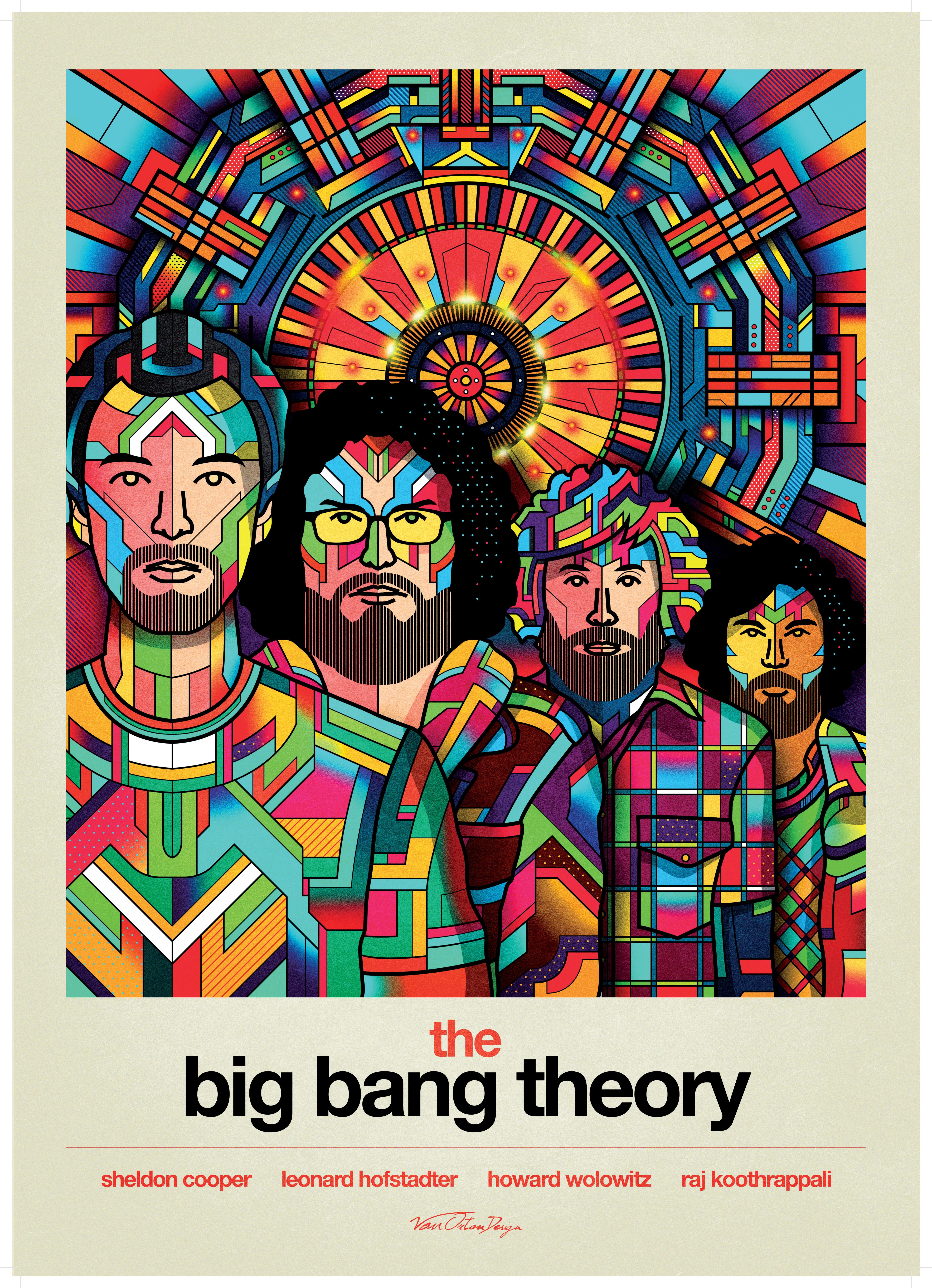 La mostra di The Big Bang Theory: nerd psichedelici per Van Orton