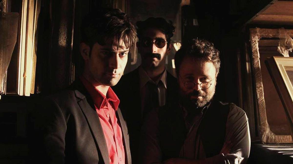 Vittima degli eventi: Valerio Di Benedetto con Luca Vecchi e Claudio Di Biagio in una foto promozionale
