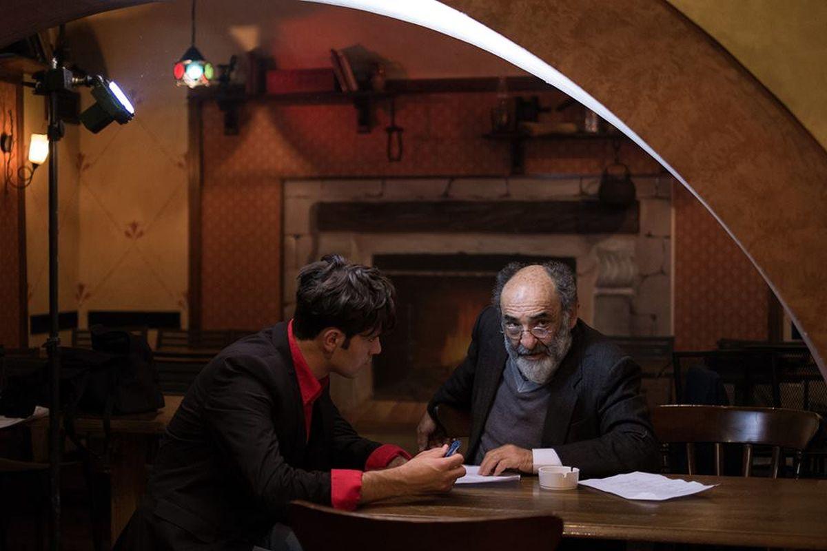 Vittima degli eventi: Valerio Di Benedetto con Alessandro Haber sul set