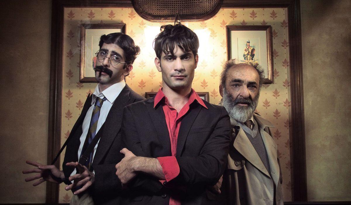 Vittima degli eventi: Valerio Di Benedetto con Alessandro Haber e Luca Vecchi e Claudio in una foto promozionale