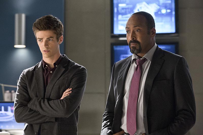 The Flash: Grant Gustin e Jesse L. Martin in una scena di The Things You Can't Outrun