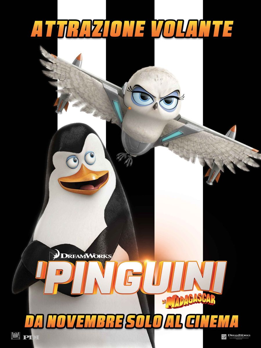I pinguini di Madagascar: il character poster italiano di Kowalski il cervello