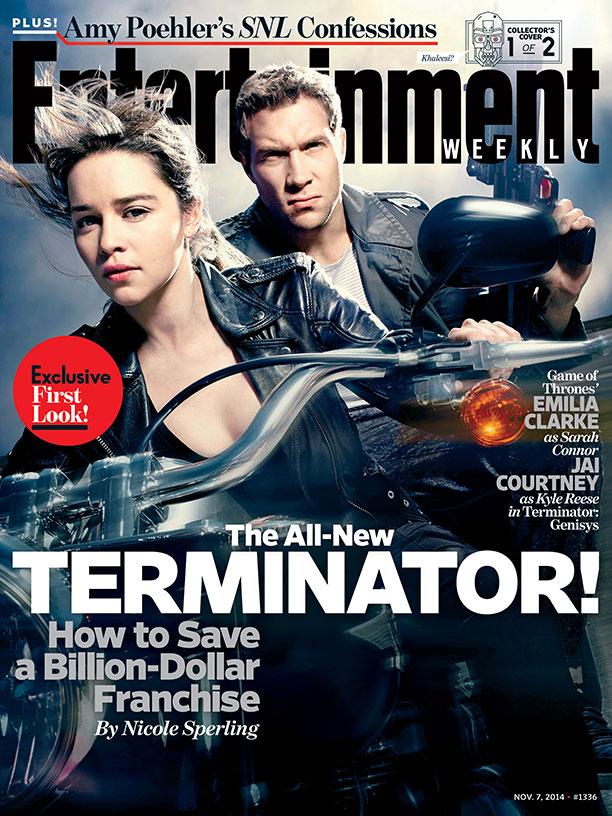 Terminator: Genisys - La copertina di Entertainment Weekly dedicata a Emilia Clarke e Jai Courtney