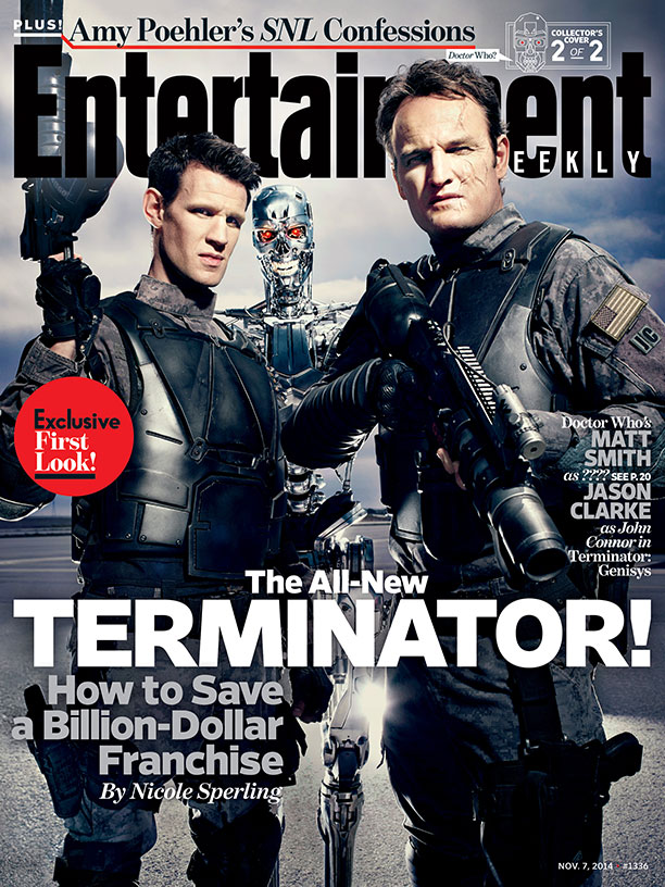 Terminator: Genisys - La copertina di Entertainment Weekly dedicata a Jason Clarke e Matt Smith