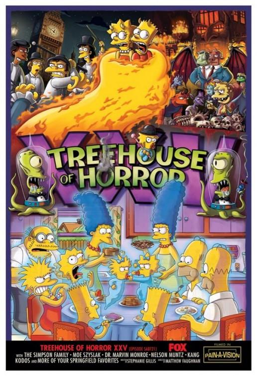 I Simpson: il poster dell'episodio Treehouse of Horror XXV