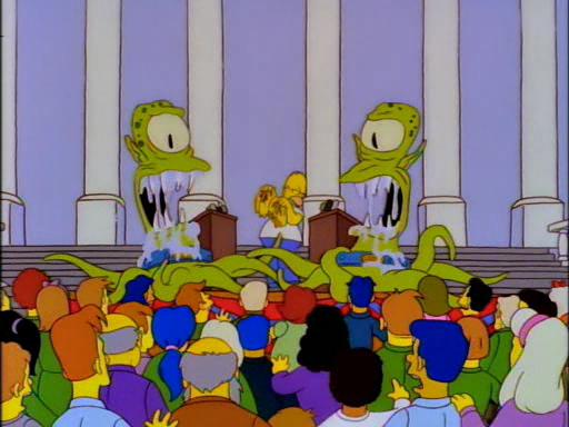 I Simpson: Kang e Kodos in uno degli episodi speciali di Halloween