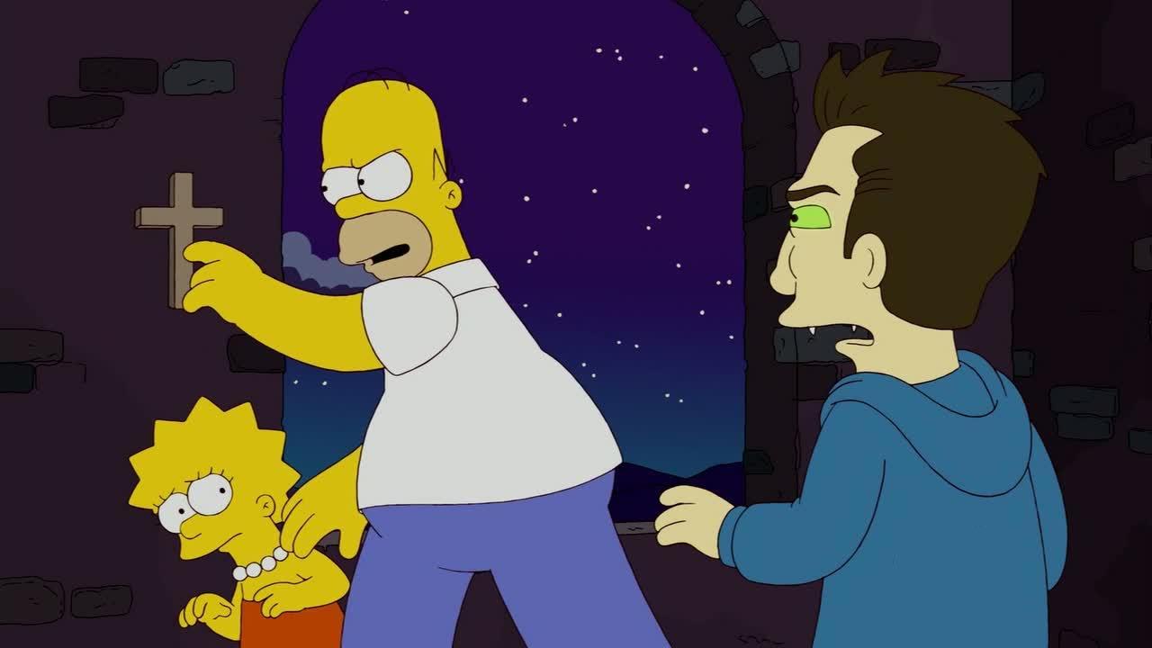 I Simpson: una scena dell'episodio speciale Treehouse of Horror XXI