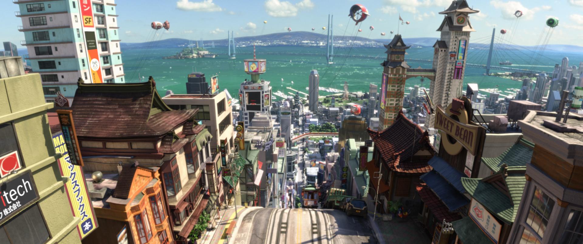 Una scena tratta dal film Disney-Pixar 'Big Hero 6'