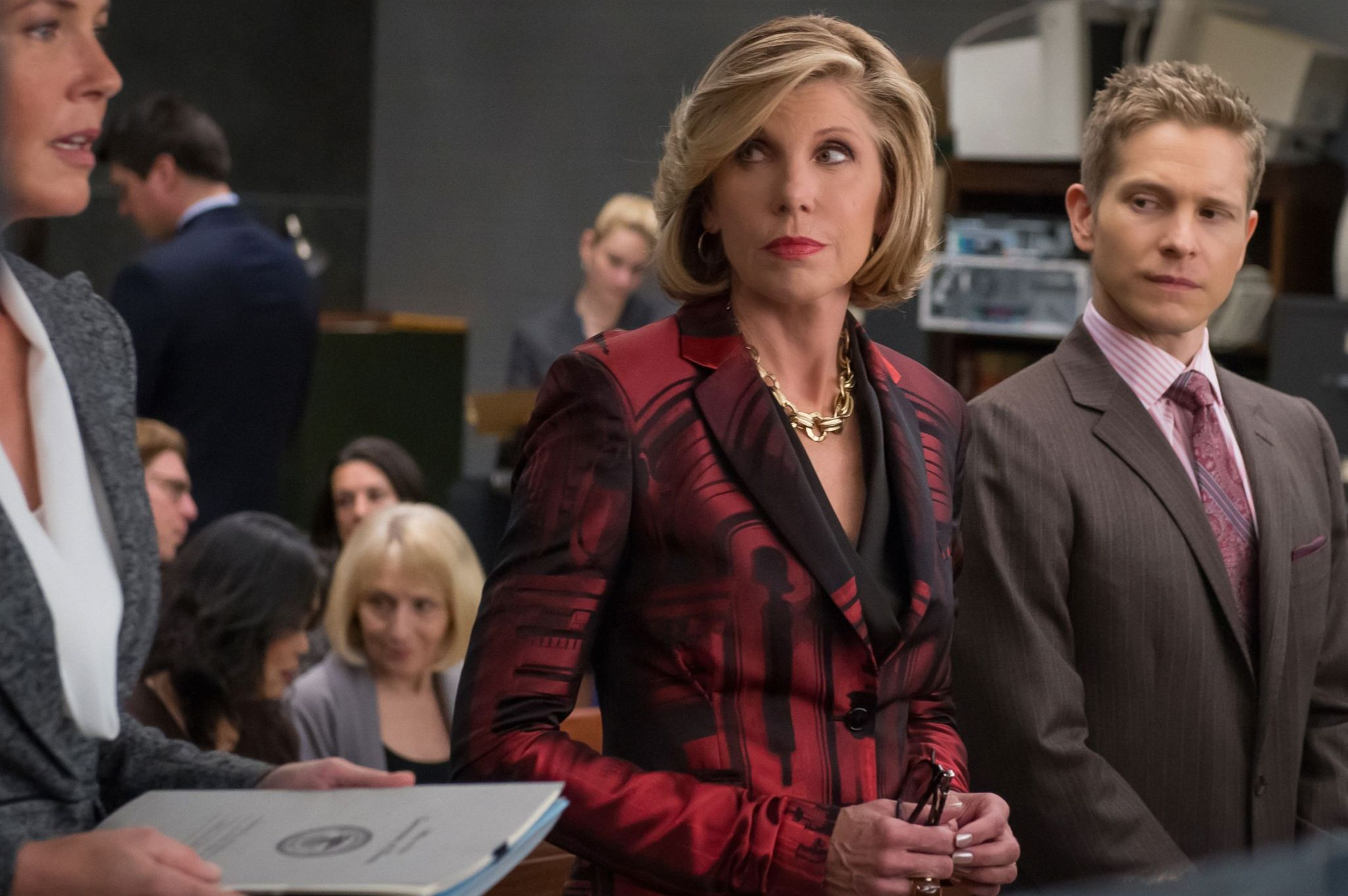 The Good Wife: Christine Baranski e Matt Czuchry in Message Discipline