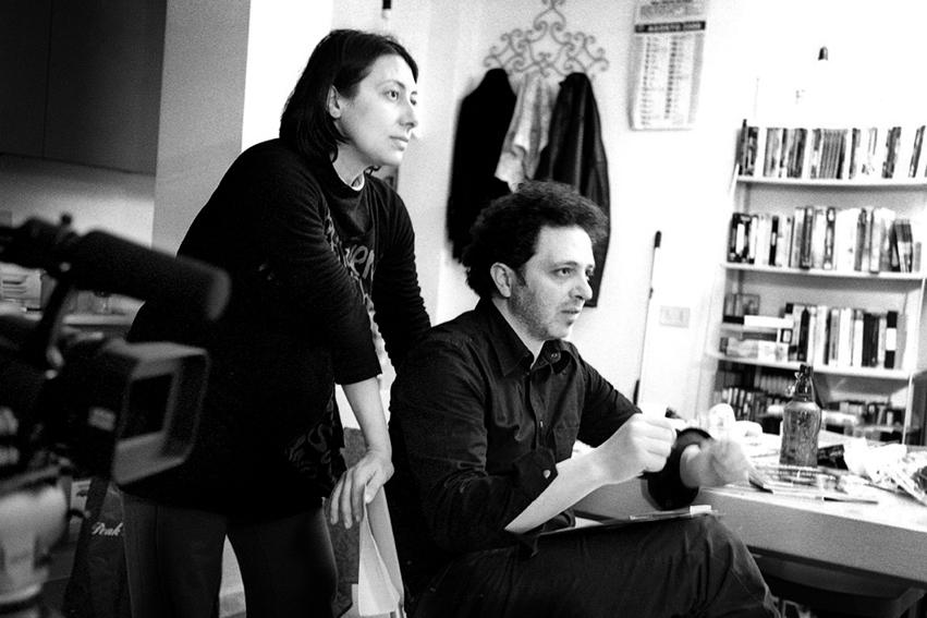 Una foto dal set del film La palestra, di Francesco Calandra