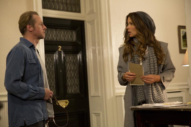 Un'occasione da Dio: Simon Pegg e Kate Beckinsale in una scena del film