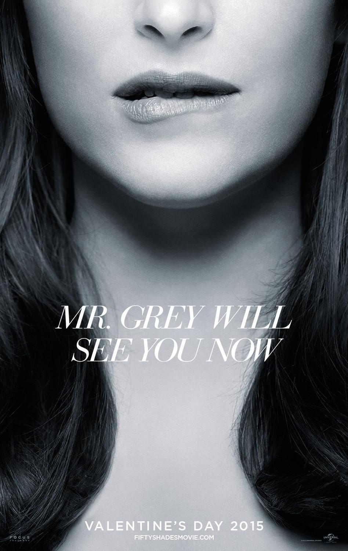 Cinquanta sfumature di grigio: un sensuale poster del film