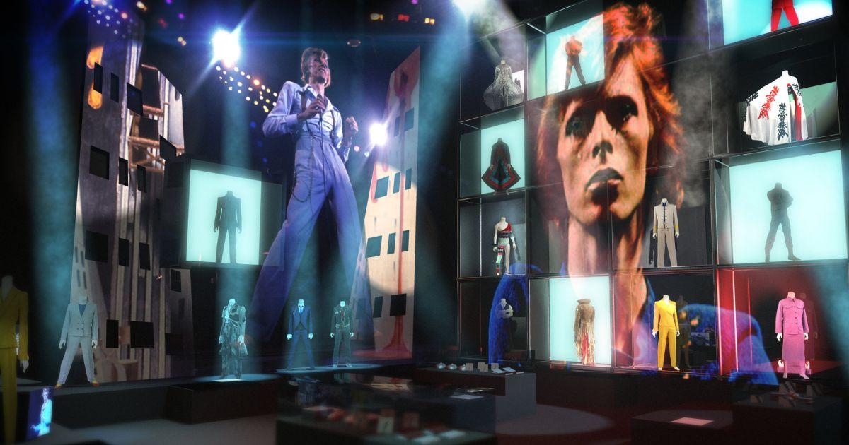 David Bowie Is: un'immagine dalla mostra blockbuster in arrivo nei cinema