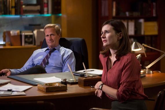 The Newsroom: Jeff Daniels ed Emily Mortimer nell'episodio intitolato Run