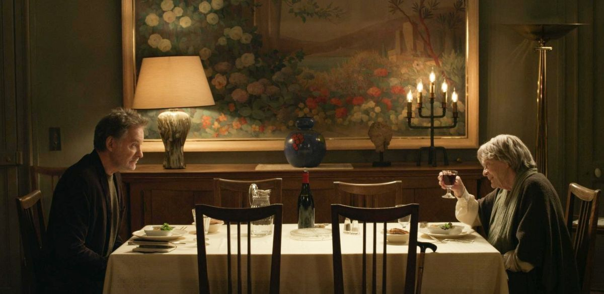 My Old Lady: Kevin Kline con Maggie Smith in un'immagine tratta dal film