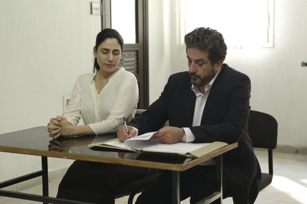 Viviane: Ronit Elkabetz con Menashe Noy in una scena