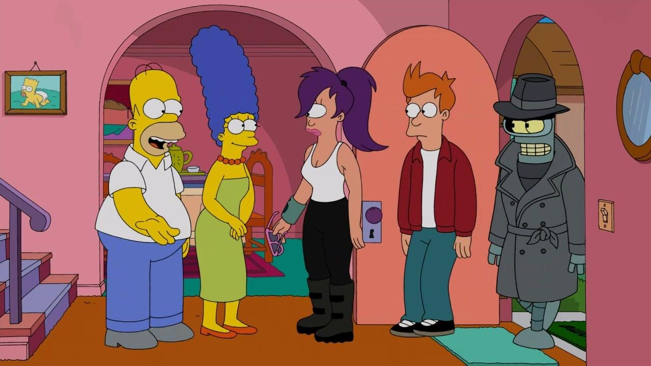 Simpsorama: una scena dell'episodio crossover tra I Simpson e Futurama