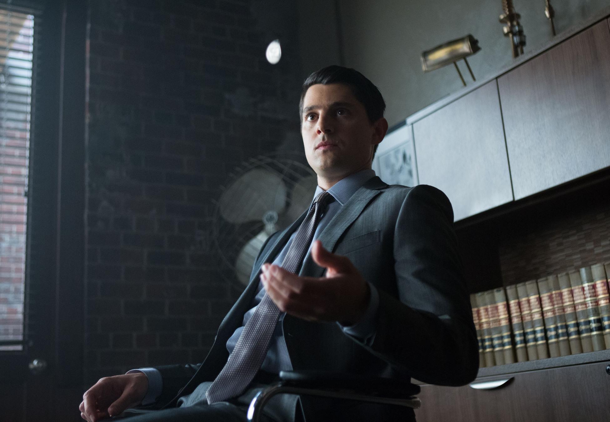 Gotham: l'attore Nicholas D'Agosto nell'episodio intitolato Harvey Dent