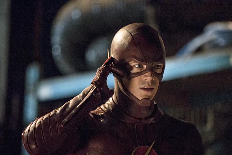 The Flash: Grant Gustin in una scena della puntata intitolata The Flash Is Born