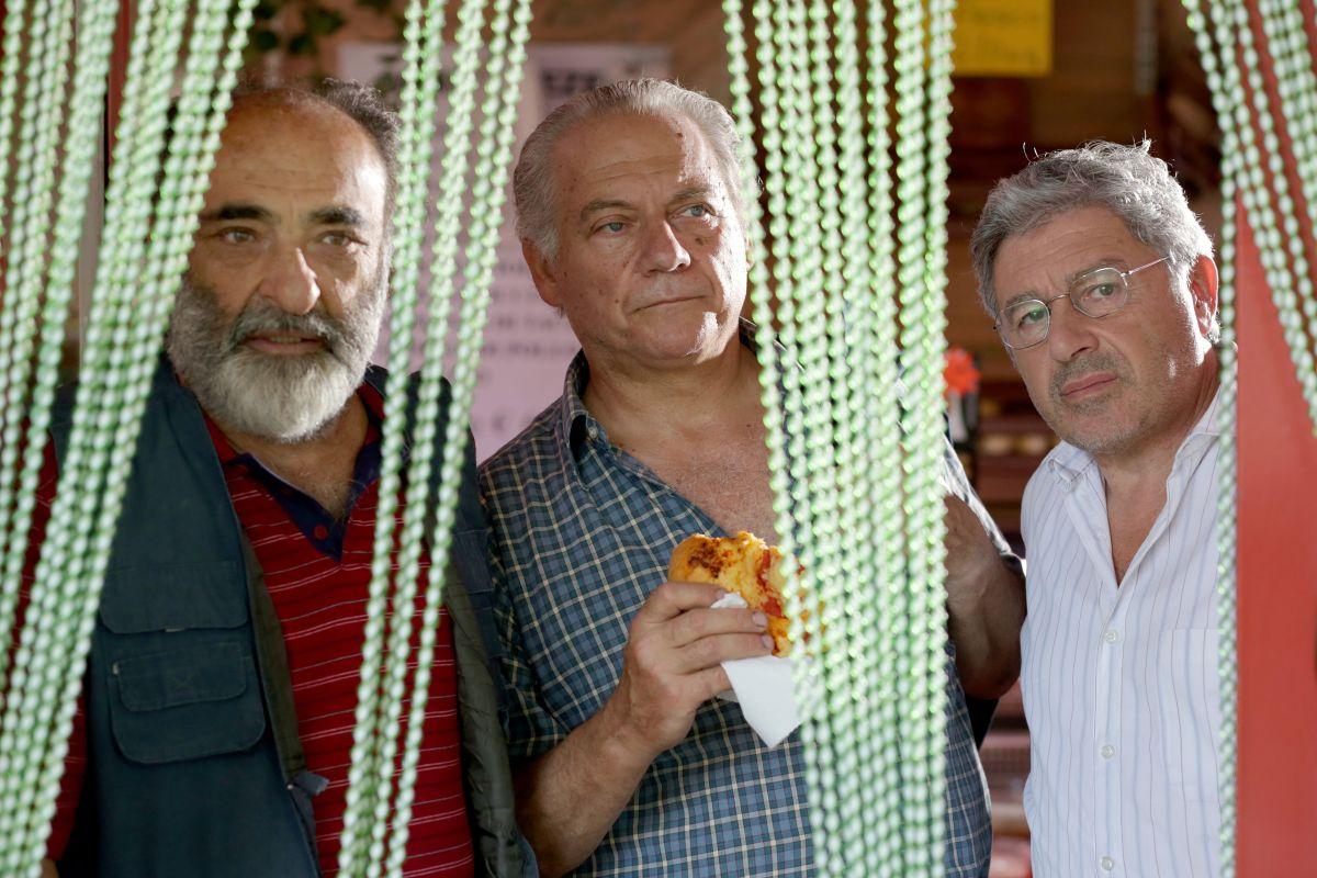 Mirafiori Lunapark: Alessandro Haber insieme ad Antonio Catania e Giorgio Colangeli in un'immagine del film