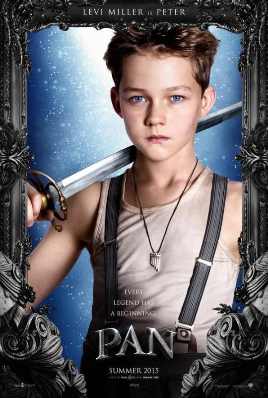 Pan: Levi Miller nel character poster italiano di Peter