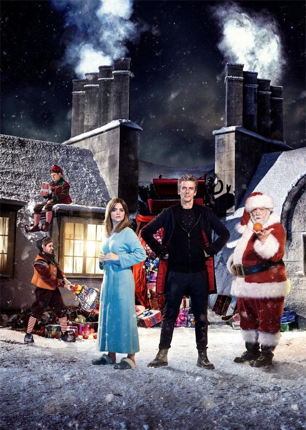 Docto Who: Peter Capaldi e Jenna-Louise Coleman in un'immagine natalizia