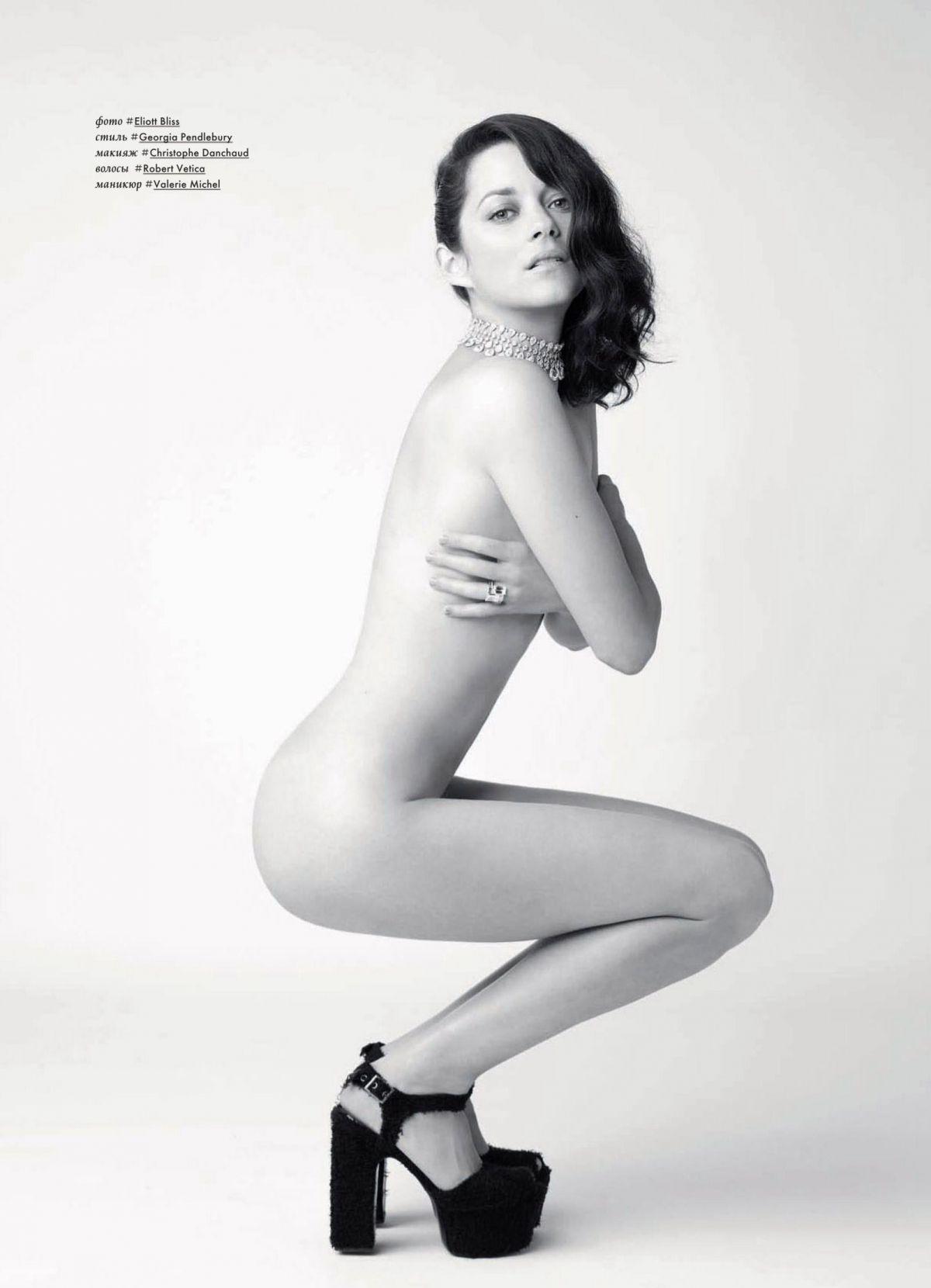 Marion Cotillard nuda in una foto pubblicata dal magazine russo SNC