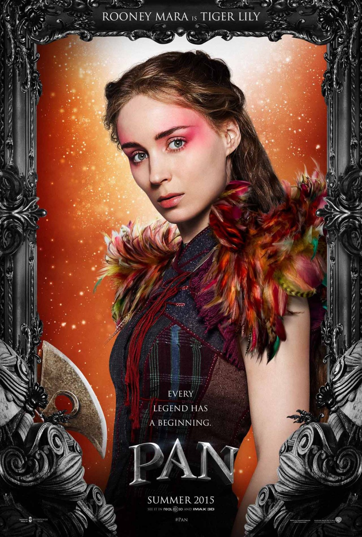 Pan: il character poster di Tiger Lily, interpretata da Rooney Mara