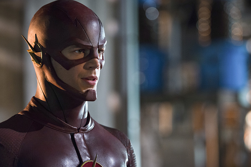 The Flash: Grant Gustin interpreta Barry Allen nell'episodio Power Outage